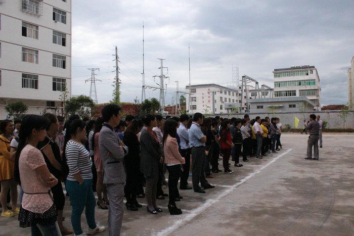 赣州华鑫针织有限公司进行消防演习